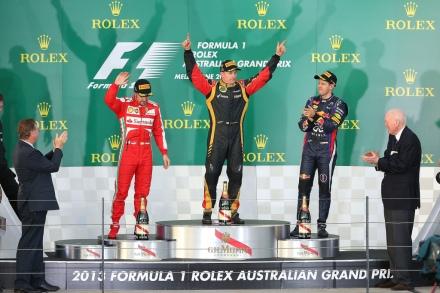 aus 2013 podium