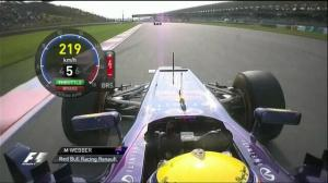 Flipping Vettel the bird